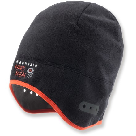 Entertainment A great choice for alpine climbing, mountaineering and skiing trips, the low-profile Mountain Hardwear Dome Ruinart hat fits easily under hoods and helmets to keep your head warm. - $20.93