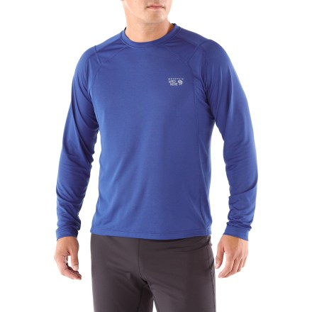 Fitness A popular choice for outdoor activity, the Mountain Hardwear Double Wicked Lite T-shirt keeps you comfortable with moisture-wicking fabric. Quick-drying fabric moves moisture away from your skin, and its open-knit mesh structure allows maximum airflow; antimicrobial treatment fights odors. You'll run farther without chafing thanks to the flatlock seams that maximize motion and minimize abrasion. Semifitted Mountain Hardwear Double Wicked Lite T-shirt offers a fit that is not too tight and not too loose. - $20.83