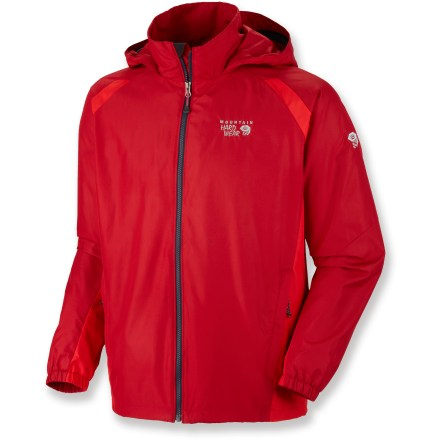 Choose the Mountain Hardwear Windrush jacket when windy weather is on the way. Polyester shell fabric blocks the wind for superior warmth and comfort on breezy days. Hood easily stows when not in use. Front zipper is backed by a storm flap to keep the wind out. Jacket packs down small and tucks into a pocket for easy storage in your pack. Mesh-lined hand pockets and hidden waist cinch round out the features. Closeout. - $36.93