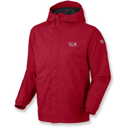 The Mountain Hardwear Runoff rain jacket keeps the rain at bay, so you can enjoy the outdoors no matter the forecast. The Runoff is made of nylon with a Dry.Q Core waterproof, breathable 2.5-layer laminate for protection from the elements. Hood offers easy adjustments for a custom fit. Full-length front zipper features a storm flap to help keep the wind out. Elastic cuffs and drawcord hem help seal out the cold. Zippered handwarmer pockets. Closeout. - $62.93