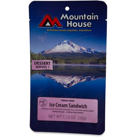 Camp and Hike Freeze-dried vanilla ice cream sandwiched between chocolate wafers makes a great trailside treat no matter what the weather. - $1.93