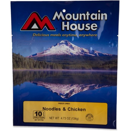 Camp and Hike Sometimes you want simple flavors that satisfy. Made with noodles, real chicken pieces and red pepper in a savory sauce, this is a hot and delicious backpacking meal that the whole family will love. - $8.00