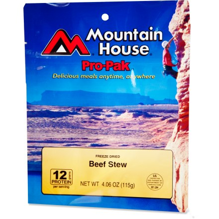 Camp and Hike A single serving of hearty beef stew with peas and carrots. - $4.93