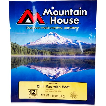 Camp and Hike Perfect for climbers and mountaineers, this Chili Mac Pro-Pak is a great way to enjoy real chili flavor with beef, beans and macaroni in a compact, vacuum-packed, just-add-water pouch. - $7.50