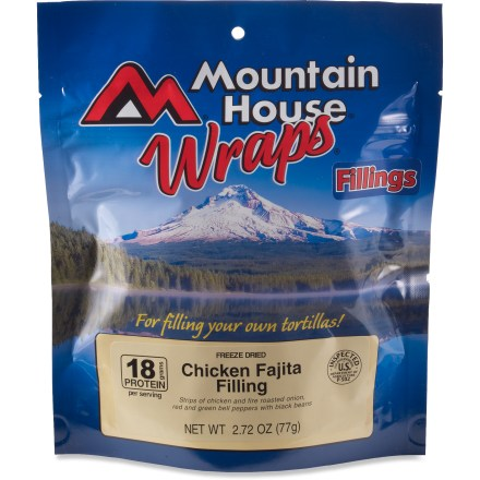 Camp and Hike Use the Mountain House Chicken Fajita wraps as a tasty filling for your own tortillas. - $5.93