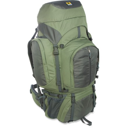 Camp and Hike The Mountainsmith Circuit 3.0 pack offers plenty of room for all your backcountry gear. It's a great choice for multi-day excursions. Dual-density shoulder straps and back panel keep you comfortable while carrying heavy loads; sternum strap keeps straps in place. Padded waistbelt features pivot points to move with you for superior comfort. X-Frame dual-stay construction offers amazing support without weighing you down. Large main compartment offers plenty of room for a week's worth of gear; collared storm shield features a drawcord closure. Hydration-compatible design features reservoir pocket and dual drink tube exit port for on-the-go hydration (reservoir not included). Side zip pockets offer easy access to gear; large front pocket provides quick access to items. Sleeping bag compartment on bottom lets you quickly access your sleeping bag without having to dig through main compartment. Removable zippered top lid pocket secures smaller essentials for easy retrieval. Side and bottom compression straps for jostle-free carry. Ice axe, trekking pole and daisy chain loops offer easy external gear attachment. Dual water bottle pockets. Special buy. - $139.73