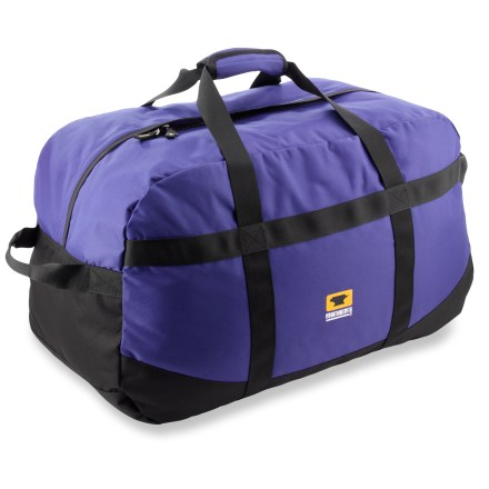Camp and Hike The Mountainsmith Travel duffel hauls your gear from point A to point B with ease. ReForge(TM) 100% recycled PET polyester fabric stands up to wear and tear. Zippered main compartment opens wide for easy access when packing and unpacking. Wrapped handles make carrying a breeze; haul handles on ends provide extra carrying power. Compression straps stabilize load. Special buy. - $47.73