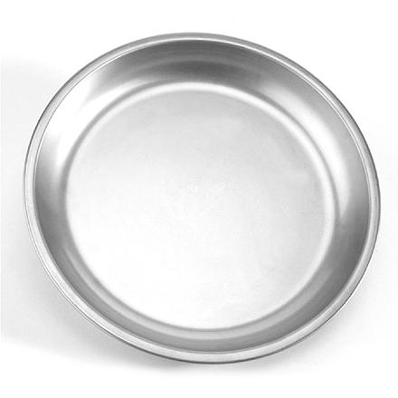 Camp and Hike Don't limit yourself to eating from a cup-this lightweight stainless-steel plate travels well and cleans up easily. - $9.95