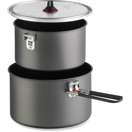 Camp and Hike Perfect for backcountry gourmets, the MSR Base 2 pot set equips you with the cookware needed to create scrumptious meals. - $54.95