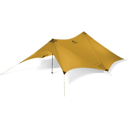 Camp and Hike This airy, minimalist, shaped tarp offers weather and sun protection with tons of ventilation. - $224.93