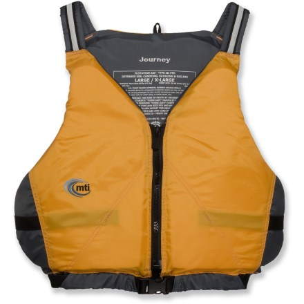 Wake The all-purpose MTI Journey PFD provides reliable comfort for canoeing, kayaking, rafting and other recreational watersports. - $29.83