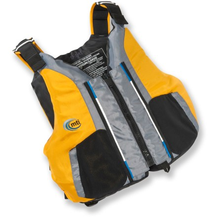 Kayak and Canoe Sit back and relax in the Dio PFD from MTI. It features minimal back padding so you can take full advantage of your kayak's seat. - $49.83
