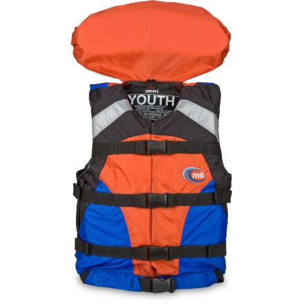 Kayak and Canoe The MTI Youth Canyon-V PFD offers young paddlers solid flotation and enhanced safety. - $54.83