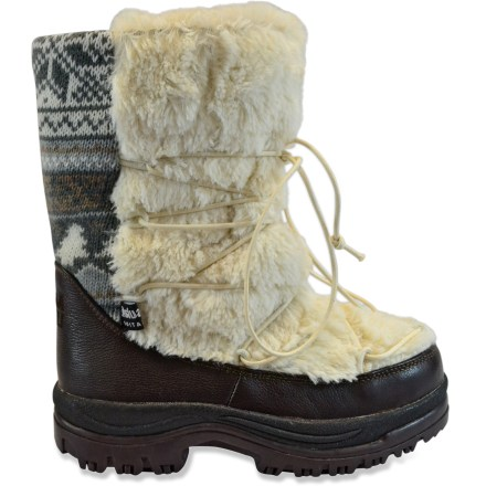 Packed with luxurious faux fur, the MUK LUKS Massak Short boots are a cold-weather delight. Easy-care, water-resistant polyester/acrylic uppers surround your feet in plush style. 200g Thinsulate(R) synthetic insulation keeps feet warm and cozy. Paperboard insoles offer light cushioning underfoot. Thermoplastic rubber outsoles grip well on snowy sidewalks. Closeout. - $27.73
