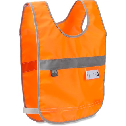Fitness The Nathan Safety reflective vest provides 360deg of visibility to passing traffic. Vest reflectivity shines with 500 candlepower and can be seen up 1,200 ft. away. Highly visible orange nylon is sure to get a driver's attention. Includes a waterproof ID card that stows in a visible location on the front of the vest. 1 size fits all. - $11.93
