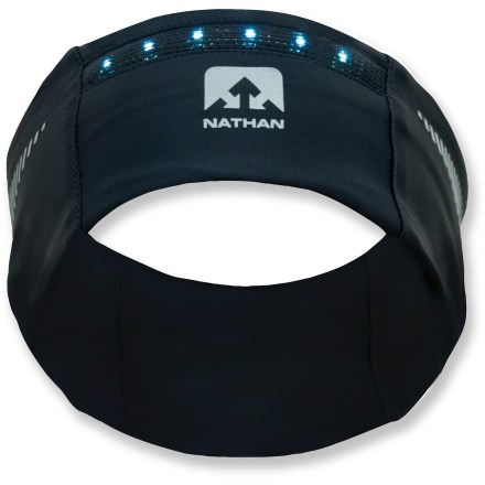 Did you know that a car traveling 30 mph needs nearly 200 ft. to stop? Wear the Nathan HeadGasketTM headband with LightWaveTM LEDs to ensure you're seen by oncoming traffic. - $12.83