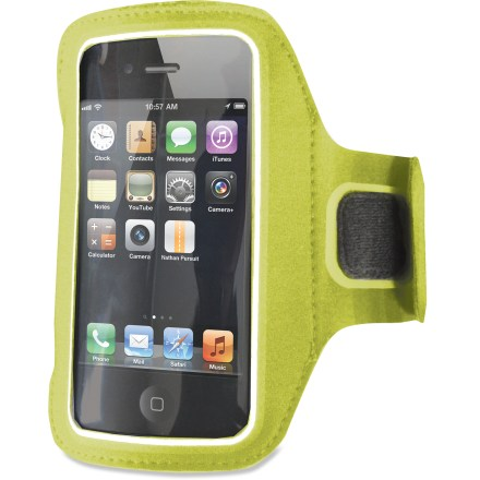 Fitness Tired of stashing your phone in your pocket while running or hitting the gym? The Nathan Super Sonic iPhone armband keeps your phone securely attached to your arm so you can focus on your workout. - $14.93