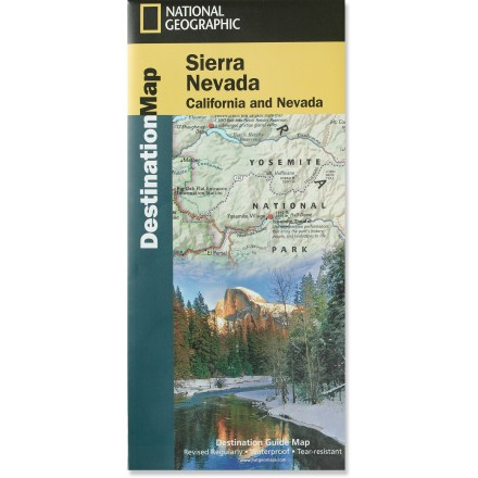 Camp and Hike The National Geographic Sierra Nevada Destination map combines a highly detailed shaded relief map of California's most dramatic mountain range, complete with visitor and guidebook information. - $11.95