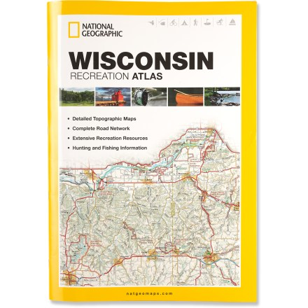 Camp and Hike The National Geographic Wisconsin Recreation Atlas offers detailed topographic maps, complete road networks and extensive recreation resources for the Badger State. - $11.93