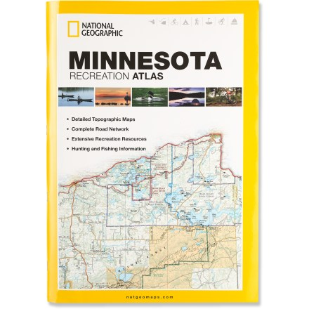 Camp and Hike The National Geographic Minnesota Recreation Atlas offers detailed topographic maps, complete road networks and extensive recreation resources for the Land of 10,000 Lakes. - $24.95