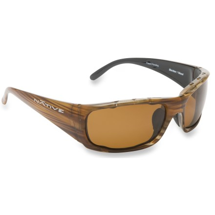 Entertainment Giving you a wide berth of coverage, the Native Eyewear Bomber Polararized sunglasses provide sun and glare protection from sand, snow, apshalt and water. - $99.00