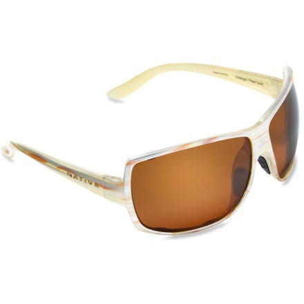 Entertainment The Native Eyewear Chonga polarized sunglasses provide serious coverage in a playful package. - $89.00