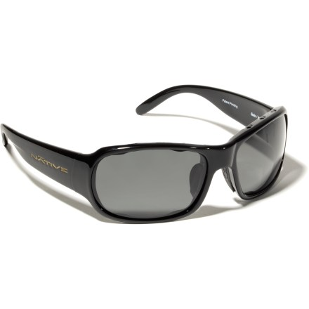 Entertainment Combat glare from sand, snow, asphalt and water. The Native Solo polarized sunglasses have the right stuff. - $48.83