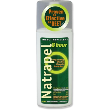 Camp and Hike Don't let biting insects ruin your outdoor adventures! This DEET-free spray from Natrapel will keep bugs away, so you can play! 20% picaridin solution provides 8 hrs. of protection from mosquitoes, black flies and ticks. Pump spray allows for easy application. Formulation is safe to use around synthetic clothing and will not harm fishing line. - $4.93