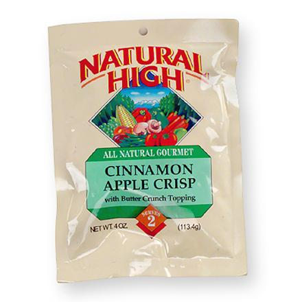 Camp and Hike Sliced apples flavored with cinnamon, raisins and brown sugar are topped with a crunchy butter nut topping for home-baked goodness on the trail. Easy to prepare--just add water, let stand, add topping and enjoy. All natural instant dessert--no artificial colors or flavors, additives or preservatives. Nutrition facts displayed here and on packaging may differ; information on packaging reflects actual contents. *Discount will be applied when you check out. Offer not valid for sale-price items ending in $._3 or $._9. - $2.93
