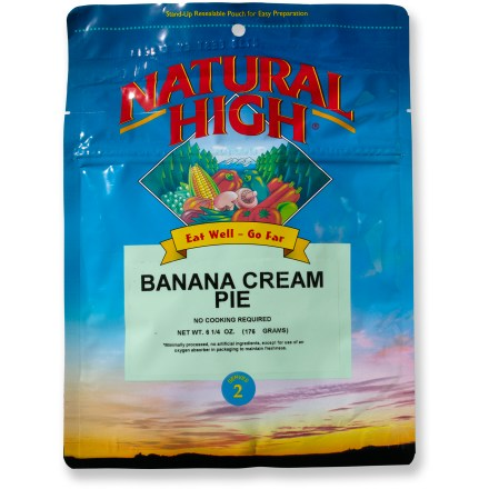 Camp and Hike Enjoy delicious banana cream pudding served over graham crackers and topped with Oreo cookie crumbs on your next camping trip. No cooking required; serves 2. *Discount will be applied when you check out. Offer not valid for sale-price items ending in $._3 or $._9. - $3.93
