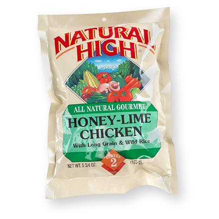 Camp and Hike Instant entree of tender chicken pieces, robust honey lime sauce with asparagus and rice. Just mix contents with boiling water in the pouch provided, let stand and serve. At higher altitudes cook in a pot--simmer an additional 3-4 minutes. Nutrition facts displayed here and on packaging may differ; information on packaging reflects actual contents. *Discount will be applied when you check out; offer not valid for sale-price items ending in $._3 or $._9. - $4.93
