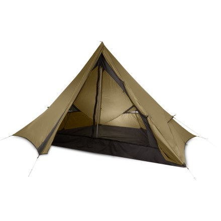 Camp and Hike The NEMO Frontier 3P shelter from is a blend of classic outfitter design and NEMO innovation. It offers a nearly rectangular sleeping area and a roomy triangular vestibule. Single-pole design and unique pentagon shape make setup easy. Included aluminum monopole passes directly to the ground through the pole port in the floor, minimizing abrasion and enhancing weatherproofness. Direct guyout points keep the shelter anchored in a wind; vestibule doors can be tied back to increase ventilation. Reinforced hoops keep upper vents open to allow high-to-low ventilation. These volumizing vents can be guyed out to expose mesh-protected panels and significantly increase interior space. Light-diffusing headlamp pocket disperses light from your headlamp to cast an even glow over the entire tent. It's also possible to support the Frontier shelter with a trekking pole or kayak paddle, not included. Includes a stuff sack, stakes/guyline and repair kit. Overstock. - $193.83