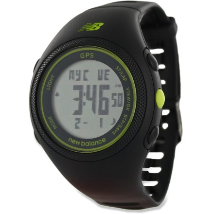 Fitness REI exclusive! The New Balance GPS Runner sport watch tracks speed, distance and pace via satellite and features run memory to record your results so you know when to pick up the pace! - $59.93