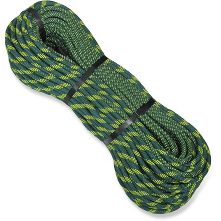 Climbing The New England Glider Bi-Pattern 10.2mm x 60m 2X-Dry Rope offers the ultimate in durability and reduced drag. This rope is great for all-around use. A great choice for cragging and alpine climbs as well as sport and extreme free climb routes, Glider handles like a dream. Special sheath weave delivers a smaller profile in cross-section for improved sharp edge abrasion-resistance and reduced drag in mechanical devices. Double Endura Dry(TM) treatment penetrates to the core and bonds with the rope fiber to retard moisture gain and improve abrasion resistance. Bi-pattern option allows quick and easy identification of midpoint of rope without affecting rope quality or performance. Kernmantle construction from U.S.-manufactured, premium quality materials effectively absorbs falls; friction-reducing finish extends the rope's life. Advanced braiding techniques stabilize the yarns for a consistent feel over the rope's useful life and create superb handling characteristics. Meets or exceeds UIAA tests for falls, impact force and elongation. Special buy. - $203.93