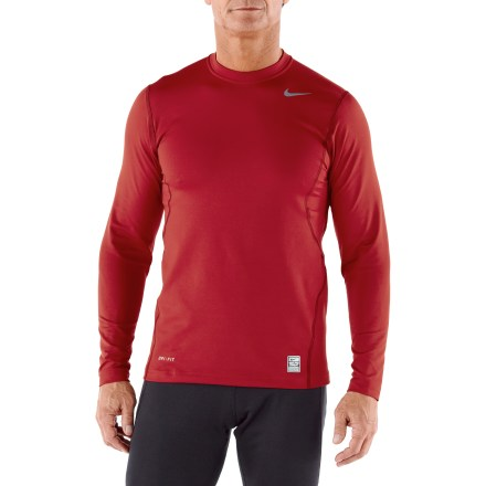 Fitness The Nike Hyperwarm Fitted Crew Top 1.2 makes an ideal under layer during cold-weather training. Dri-FIT(R) fabric is brushed on the inside for maximum comfort and warmth; it moves moisture away from the body for fast evaporation and dry comfort. Strategically placed seams enhance mobility and flatlock seams decrease friction. Nike Hyperwarm Fitted Crew top 1.2 offers a next-to-body, athletic fit. - $24.83