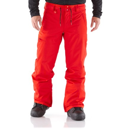 Snowboard Put down first tracks in these Nike Budmo Cargo shell pants. These loose-fitting cargo pants have a waterproof, breathable shell to keep you dry for all-day cruising. - $99.83