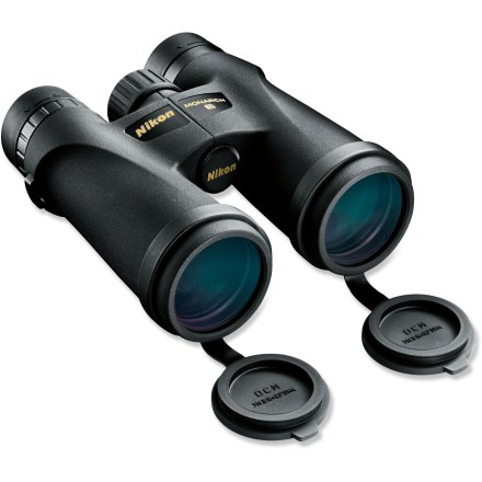 Camp and Hike The rugged and waterproof Nikon Monarch 3 8 x 42 binoculars feature bright, high-resolution views from the first light of dawn until the last glimmer of dusk. - $131.93