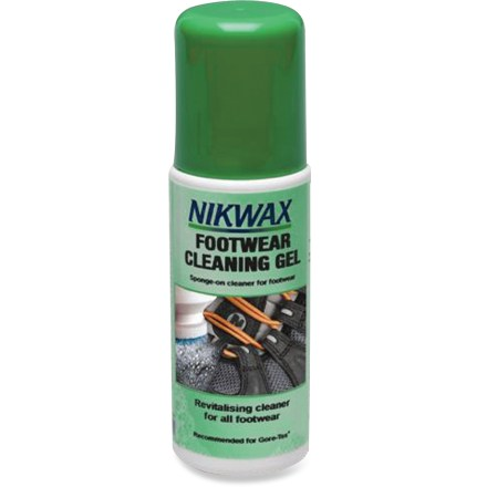 Fitness This handy, gel-based Nikwax Footwear Cleaning Gel works on all suede, nubuck or smooth-finish leathers. - $8.50