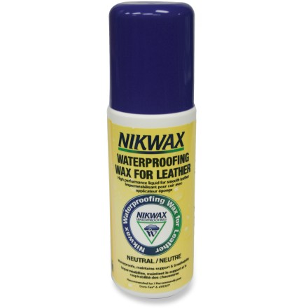 The liquid Nikwax Waterproofing wax for leather is easy to apply and provides maximum water protection and a clean finish for footwear with smooth-grain leather. - $5.93