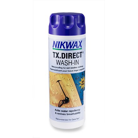 Camp and Hike Restore water repellency to your wet-weather clothing with safe, easy-to-use Nikwax TX.Direct 2.0 wash-in water-repellent treatment. - $13.00