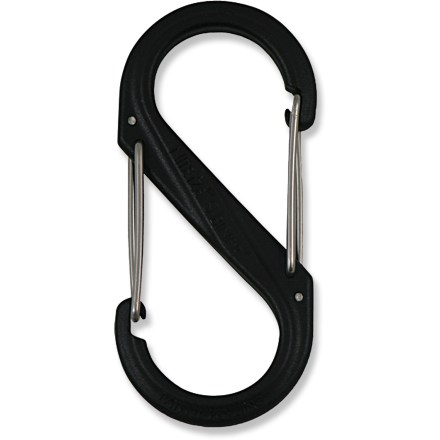 The clever size 6 Nite Ize Plastic S-Biner offers a great way to manage your gear and household items with its distinctive double clip carabiner design. - $2.93