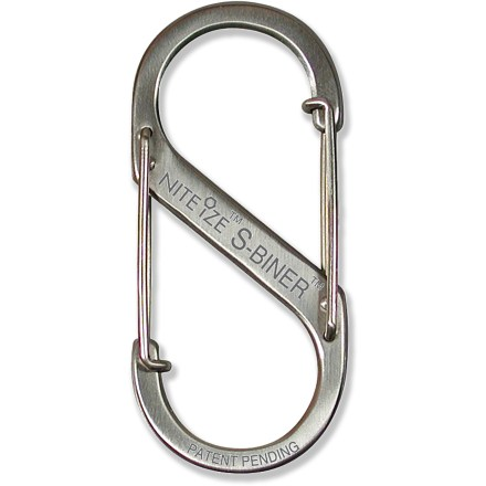 Entertainment The Nite Ize S-Biner size 0.5 is a unique double-clip carabiner that offers a great way to manage your keys or other items. - $1.93