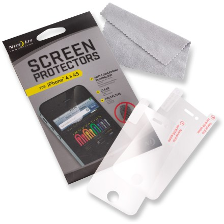 Entertainment The Nite Ize iPhone 4/4s screen protectors help preserve your screen's crisp resolution, guarding it from everyday wear and tear. - $3.83
