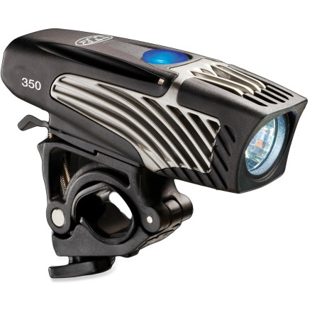 Fitness This self-contained NiteRider Lumina 350 bike light delivers compact, lightweight bar-top illumination without the hassle of cords and separate battery packs. - $32.93