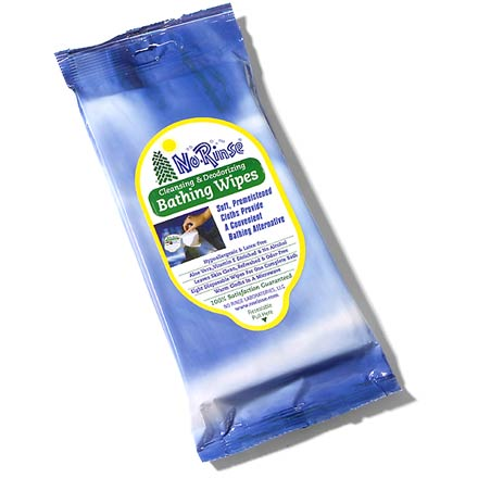 Camp and Hike Take a refreshing bath when you're away from fresh water! This packet of No Rinse washcloth-sized bathing wipes leaves skin clean, refreshed and odor-free. - $3.75
