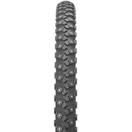 MTB This studded tire fits 26 in. wheels and works well on city and all-terrain bikes. Get out and have some fun when the ground is covered with snow. - $43.93