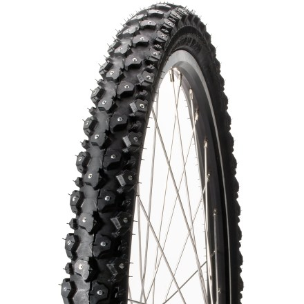MTB Handmade in Finland, the Nokian Hakkapeliitta W240 studded tire is built for all-around, off-road winter riding and fits 26 in. mountain bike wheels. - $64.93