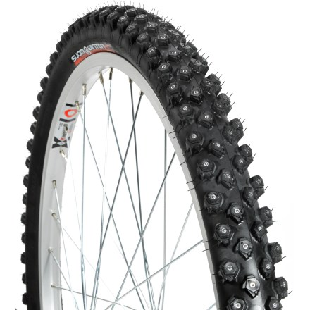 MTB Keep riding through winter with the Nokian Hakka WXC 300 studded 26 in. bike tire, which boasts 304 integrated studs for biting traction. - $124.00