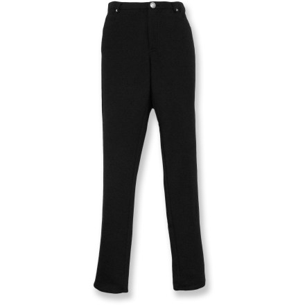 Camp and Hike Choose the Nomadic Traders Ponti Skinny jeans for casual outings. Polyester/rayon blend fabric is soft and breathable, and features a touch of spandex to move with you. Traditional zippered fly with button closure and 5-pocket design. Closeout. - $17.73