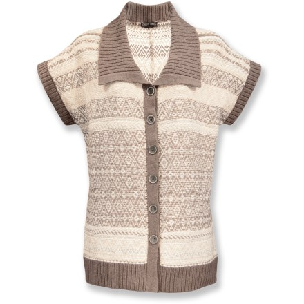 The Nomadic Traders Winter Solstice long sweater shirt looks great when a touch of warmth is a must. Cotton/nylon blend fabric features a touch of wool for warmth. Button front desgin. Rib-knit collar, cuffs and hem. Closeout. - $26.73